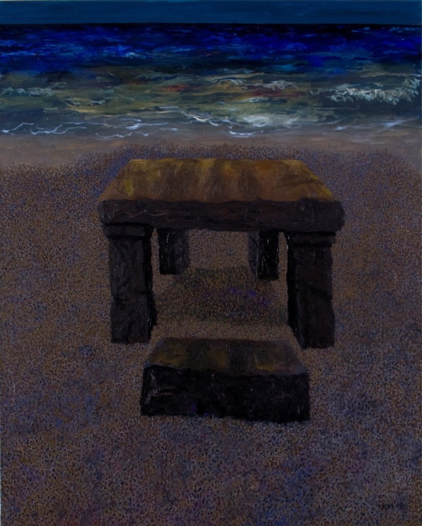 """Slave Block"" oil on canvas 30 X 24"" 2009"