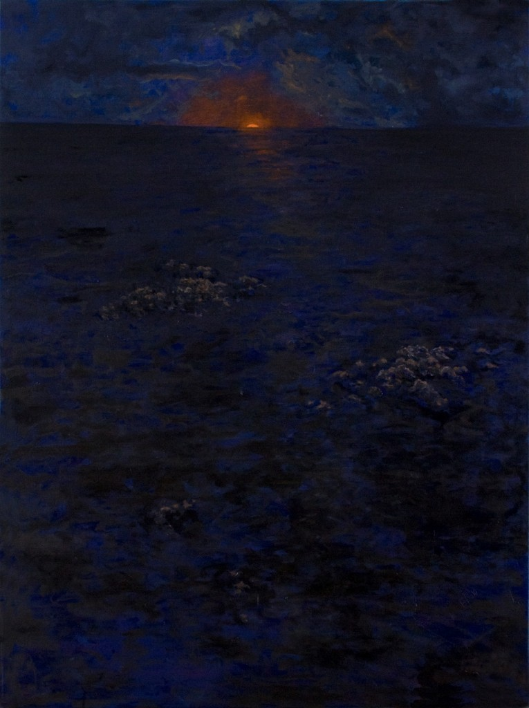 """Atlantic' oil on canvas 40 x 30"" 2009"