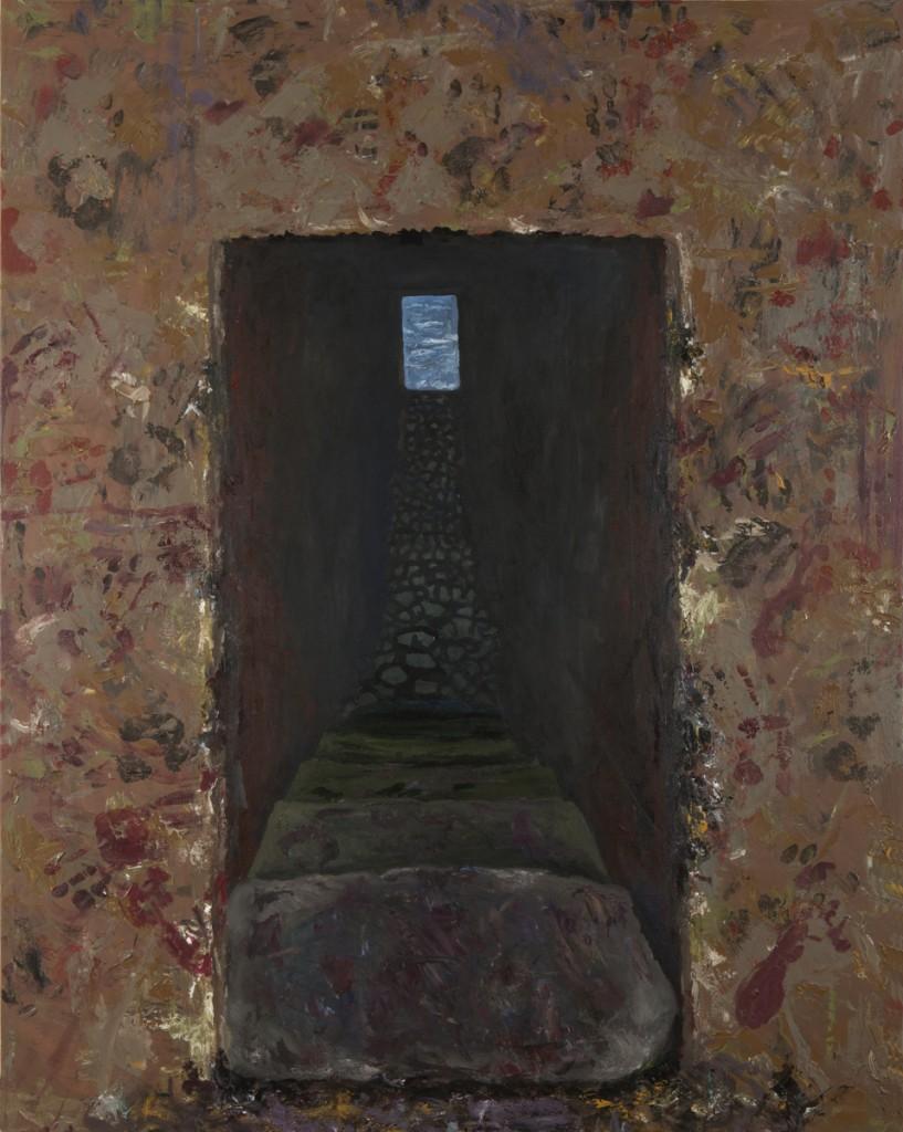 """""""Door of No Return I"""" acrylic on canvas 48 x 60' 2014"""