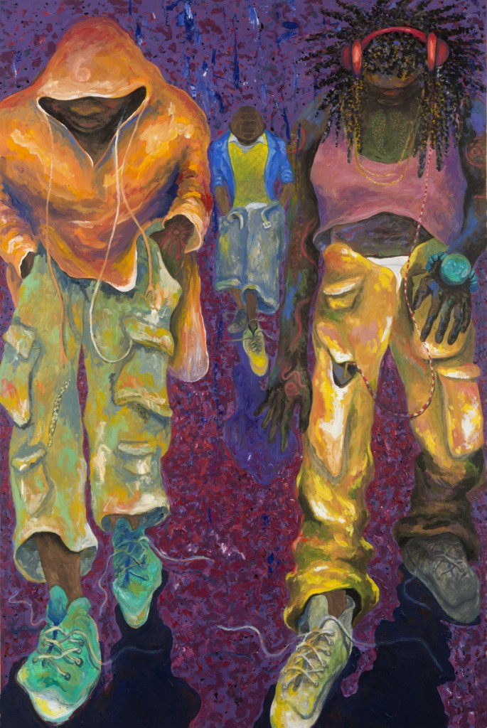 """Boyz"" acrylic on canvas 40 x 60"" 2014"