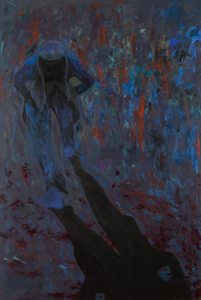 """Hoodie"" acrylic on canvas 48 x 60"" 2014"