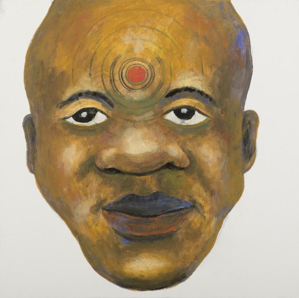 """Target I"" acrylic on canvas 20 x 20"" 2014"