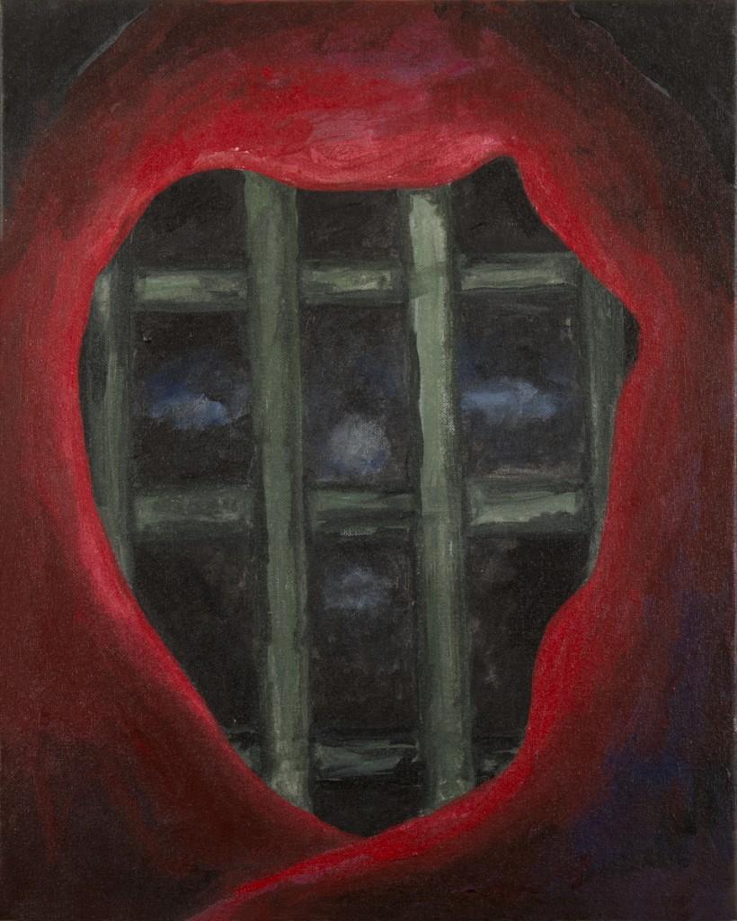 """""""Shroud I"""" acrylic on canvas 18 X 20' 2014"""