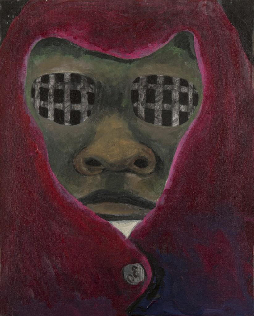 """""""Shroud II"""" acrylic on canvas 18 x 20"""" 2014"""