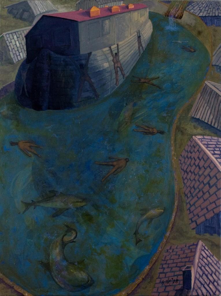 """""""Katrina"""" oil on canvas 40 X 30"""" 2008"""