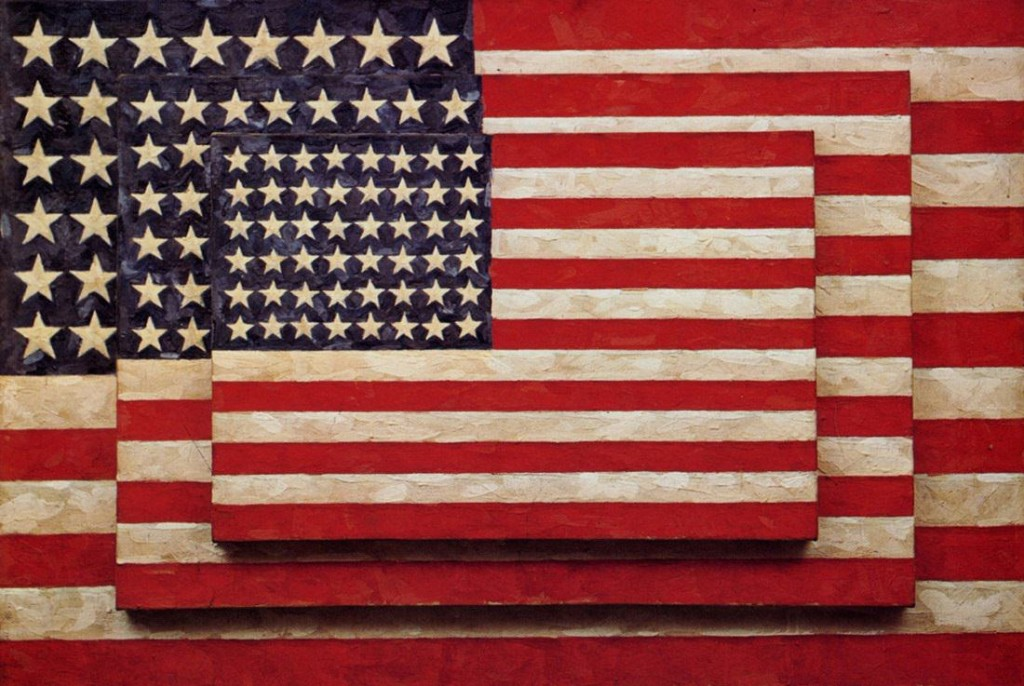 """Three Flags"" Jasper Johns"